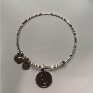 """Alex & Ani monogram bracelet """"L"""""""